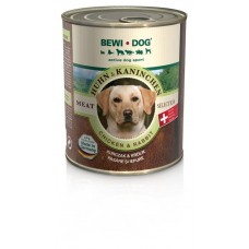 BEWI DOG Canned Dog Food chicken and rabbit flavored 800 gram