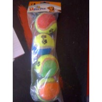 Colorful Tennis Balls - 4 Balls