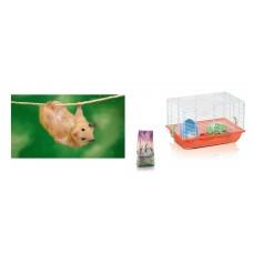 Hamster Cage imac Criceti 2+ Hamster+ Litter wood pellets+ Food